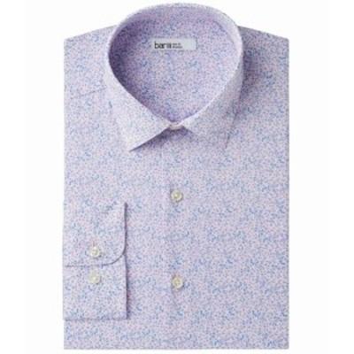 ファッション ドレス Bar III Mens Dress Shirt Purple Size 17 1/2 Floral Print Slim Fit