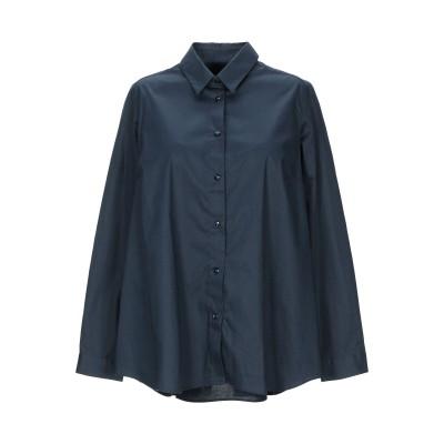 CRISTIANA C シャツ ダークブルー 42 コットン 97% / ポリウレタン 3% シャツ