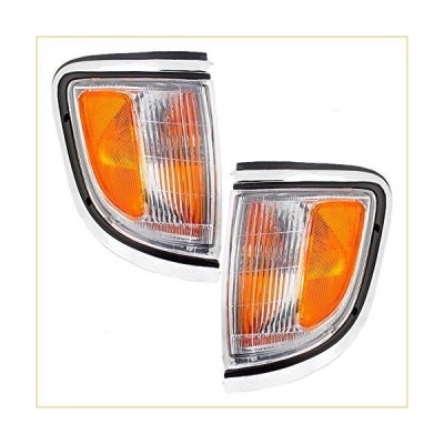 Driver and Passenger Park Signal Side Marker Lights Replacement Chrome Trim for Toyota Truck 81620-04020 81610-04020 並行輸入品