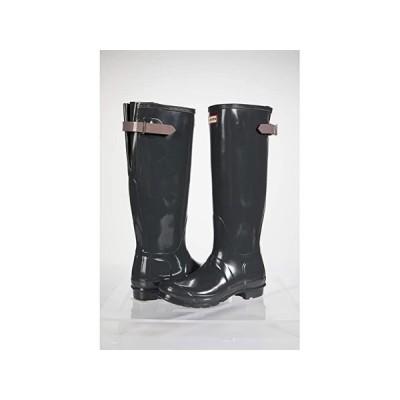 ハンター Original Back Adjustable Gloss Rain Boots レディース ブーツ Firth/Atlantis