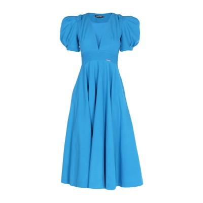 MARIAGRAZIA PANIZZI 7分丈ワンピース・ドレス ブルー 40 コットン 100% / ナイロン 7分丈ワンピース・ドレス