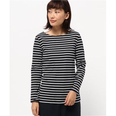 (aimoha/アイモハ)ベーシックロングスリーブボートネックボーダーTシャツ/レディース ホワイト系1