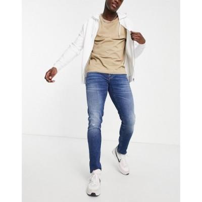 アルマーニ Armani Exchange メンズ ジーンズ・デニム スキニー ボトムス・パンツ J14 skinny jeans in indigo wash ブラック