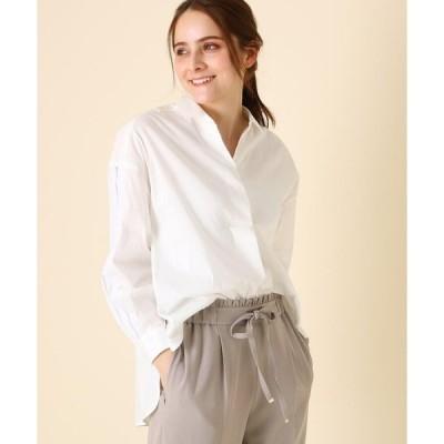 Couture Brooch / クチュールブローチ 【WEB限定サイズ(LL)あり/手洗い可】カットワークスリーブ前後差シャツ