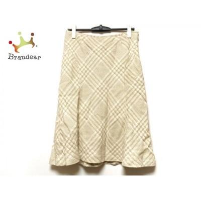 スキャパ Scapa スカート サイズ42 L レディース ベージュ×白  値下げ 20200712