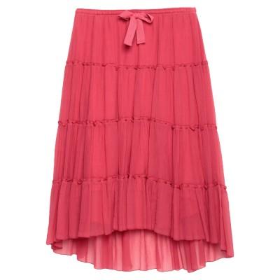 シーバイクロエ SEE BY CHLOÉ 7分丈スカート レッド 40 コットン 75% / シルク 25% 7分丈スカート