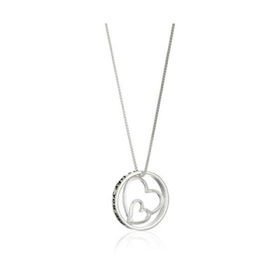"""Sterling Silver Double-Heart """"Aunts Like You"""" Pendant Necklace, 18""""送料無料"""