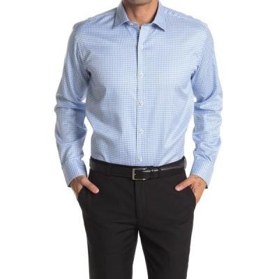 ブガッチ メンズ シャツ トップス Micro Print Shaped Fit Sport Shirt SKY