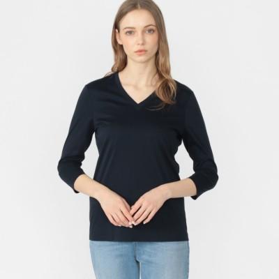 スーピマコットン7分袖Tシャツ
