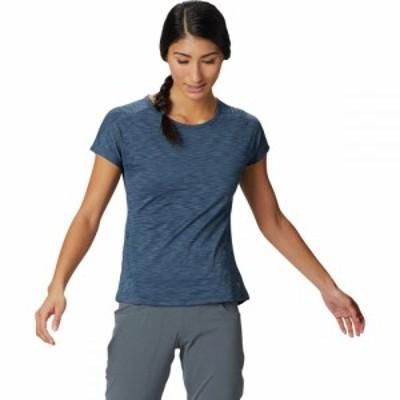 マウンテンハードウェア Mountain Hardwear レディース Tシャツ トップス Mighty Stripe Short - Sleeve T - Shirt Zinc