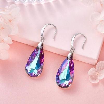 """CDE """"Aurora's Tears Swaroski Crystals Drop Earrings, Dangle Earring Fa"""