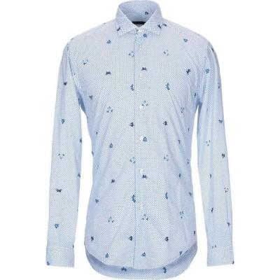 ブライアン デールズ BRIAN DALES メンズ シャツ トップス patterned shirt White