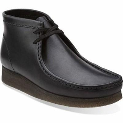 クラークス ブーツ Wallabee Boot Black/Black Leather