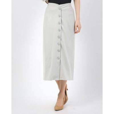スタイルブロック STYLEBLOCK ヘビージャージーフロントボタンスカート (スモーキーグリーン)