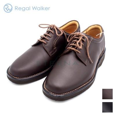 REGAL Walker リーガル ウォーカー メンズシューズ プレーントゥ シンプル レザー 軽量 痛くない 幅広 3Eブラック ダークブラウン 黒 茶色 601W