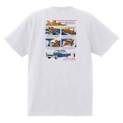 アドバタイジング フォード 883 白 Tシャツ 黒地へ変更可 1956 サンダーバード フェアレーン ビクトリア カントリーランチワゴン