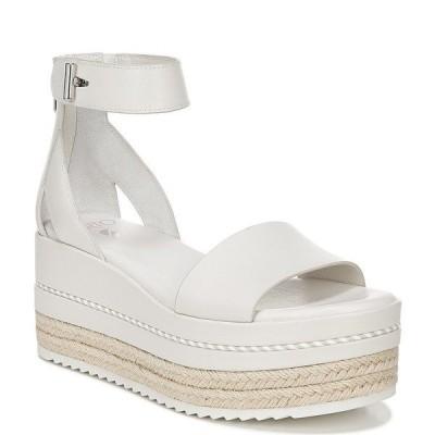 フランコサルト レディース サンダル シューズ Sarto by Franco Sarto Messina Leather Espadrille Platform Wedge Sandals Putty