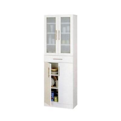 クロシオ カトレア 食器棚 60-180 23461(ホワイト) 組立式 メーカー直送