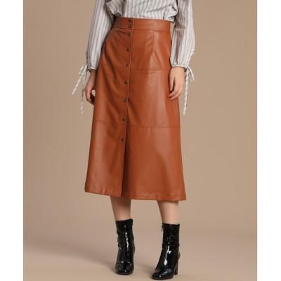 【スーペリアクローゼット/SUPERIOR CLOSET】 《Luftrobe》フェイクレザースカート