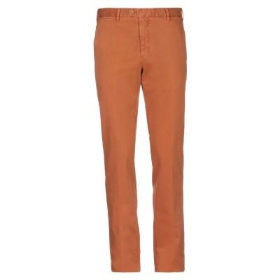 FEDELI パンツ 赤茶色 46 コットン 95% / カシミヤ 3% / ポリウレタン 2% パンツ
