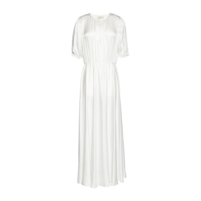 AROSSGIRL x SOLER ロングワンピース&ドレス ホワイト S シルク 100% ロングワンピース&ドレス