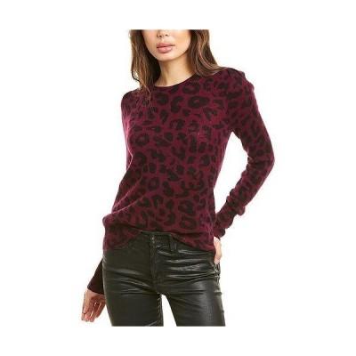 レディース ファッション  White + Warren Leopard Cashmere Sweater