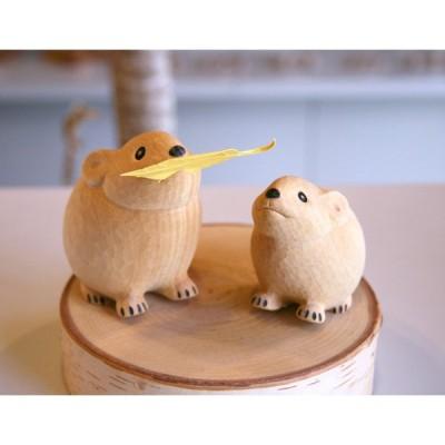 木彫り なきうさぎ  ゆらりんこ なきうさぎ 小  うぃるびぃ工房 北海道 旭川クラフト
