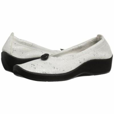 アルコペディコ Arcopedico レディース スリッポン・フラット シューズ・靴 L14 White Sparkle