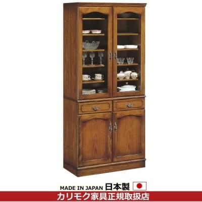 カリモク 食器棚・ダイニングボード/コロニアル 食器棚 幅878mm EC3080NK