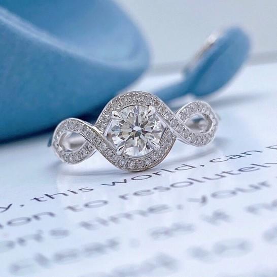 璽朵珠寶 [ 18K金 50分 女神 鑽石戒指 ] 微鑲工藝 精品設計 鑽石權威 婚戒顧問 婚戒第一品牌 鑽戒 GIA