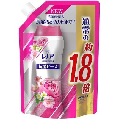 レノア 本格消臭+ 抗菌ビーズ リフレッシュフローラル 詰め替え 約1.8倍(760mL/482g)