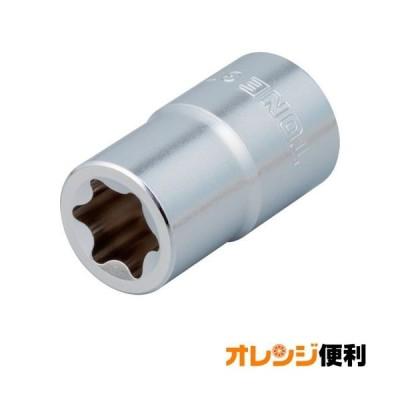 トネ TONE E型トルクスソケット 呼びNO.E7 差込角9.5mm 3TX-E07 【124-9969】