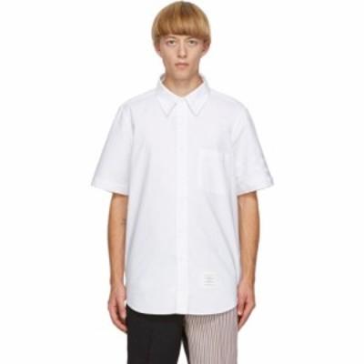 トム ブラウン Thom Browne メンズ シャツ ワイシャツ トップス White Oxford Cloth 4-Bar Shirt White