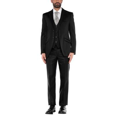 CARLO PIGNATELLI CERIMONIA スーツ ブラック 52 アセテート 51% / レーヨン 49% スーツ