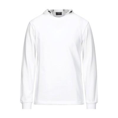 ポール・アンド・シャーク PAUL & SHARK スウェットシャツ ホワイト S コットン 100% / ナイロン スウェットシャツ