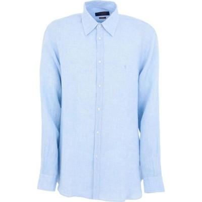 トラサルディ TRUSSARDI JEANS メンズ シャツ トップス linen shirt Azure