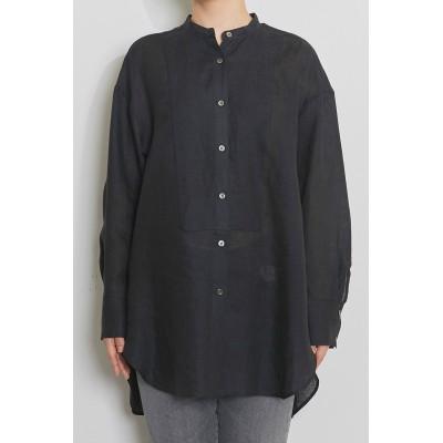 Whim Gazette ウィム ガゼット リネンドレスシャツ レディース ブラック F