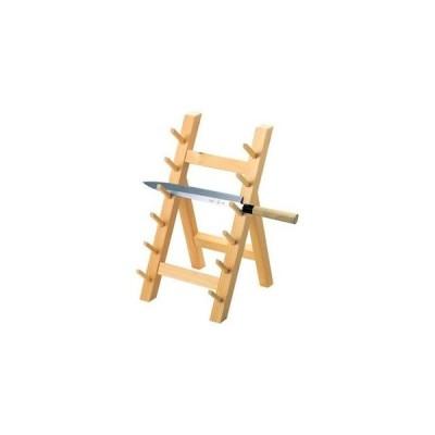 木製 庖丁掛け 6段(10301)【 砥石・庖丁差し 】