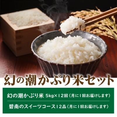 幻の潮かぶり米セット 碧南のスイーツコース H025-005-002