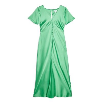 トップショップ TOPSHOP 7分丈ワンピース・ドレス グリーン 12 ポリエステル 95% / ポリウレタン 5% 7分丈ワンピース・ドレス