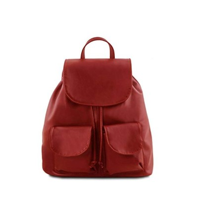 Tuscany Leather Seoul Leather Backpack Small Size Red 並行輸入品