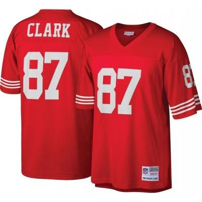 ミッチェル&ネス Mitchell & Ness メンズ トップス San Francisco 49ers Dwight Clark #87 Red 1982 Home Jersey