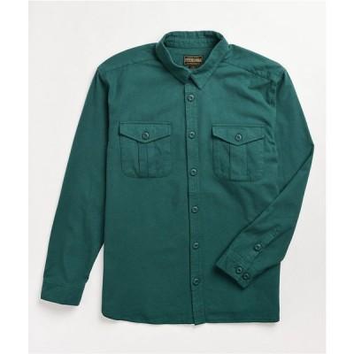 ルーカ RVCA メンズ シャツ フランネルシャツ トップス baker x skate green flannel shirt Dark green