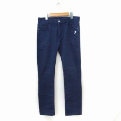 【中古】イッカ ikka パンツ ロング ジップフライ シンプル ポケット M ブルー /ST48 メンズ