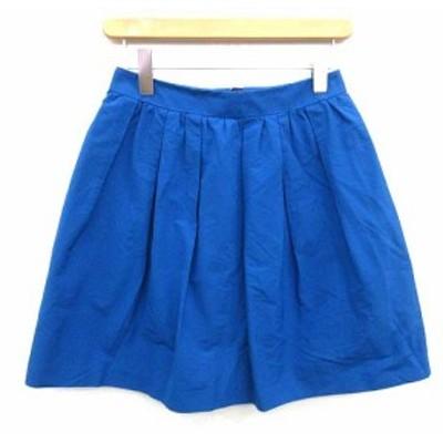 【中古】ノーリーズ Nolley's スカート ギャザー フレア ミニ 38 青 ブルー /KH ■BR レディース