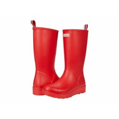 HUNTER ハンター レディース 女性用 シューズ 靴 ブーツ レインブーツ Original Play Tall Logo Red【送料無料】