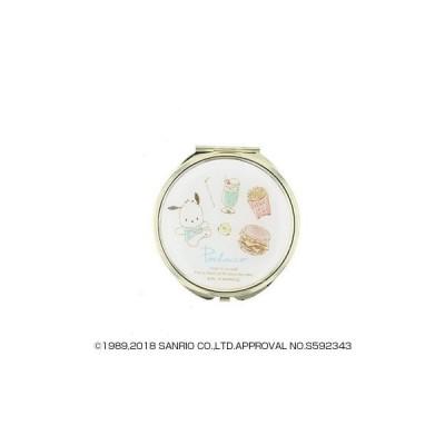サンリオ ポチャッコ POCHACCO 水彩ミラー コンパクト手鏡 拡大鏡付 SR-M0021 キャンセル返品不可 【出荷グループ A】他の商品と同梱不可