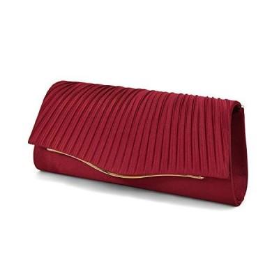 3way パーティーバッグ プリーツ ギャザー デザイン クラッチバッグ 2サイズのチェーン レディース バッグ [プ?