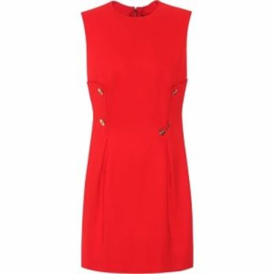 ヴェルサーチ Versace レディース パーティードレス ワンピース・ドレス Stretch-twill minidress Red
