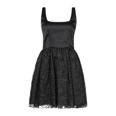 FRANCESCA & VERONICA FELEPPA ミニワンピース&ドレス ブラック 42 ポリエステル 60% / シルク 40% ミニワン
